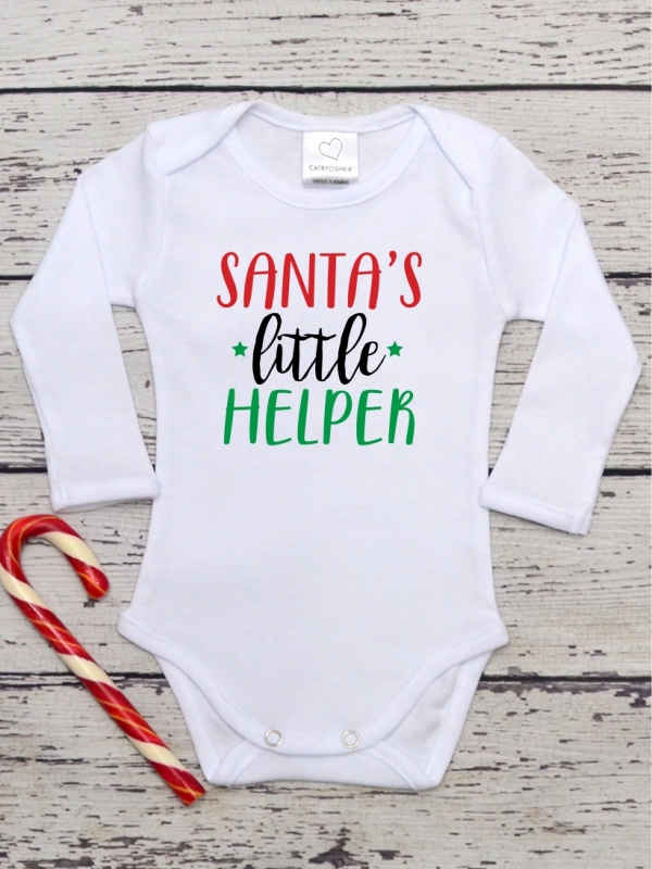 Body Copii Cu Mesaj Santa's Little Helper