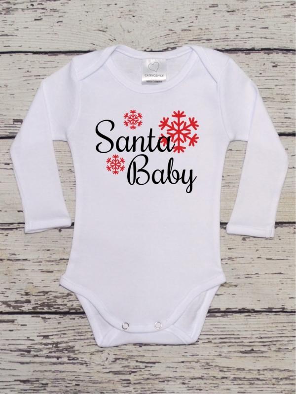Body Copii Cu Mesaj De Craciun Santa Baby