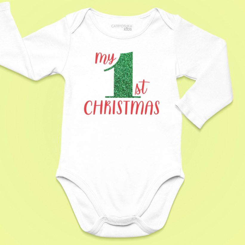 Body Copii Cu Mesaj My 1st Christmas