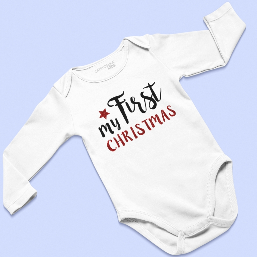 Body Copii Cu Mesaj De Craciun My First Christmas