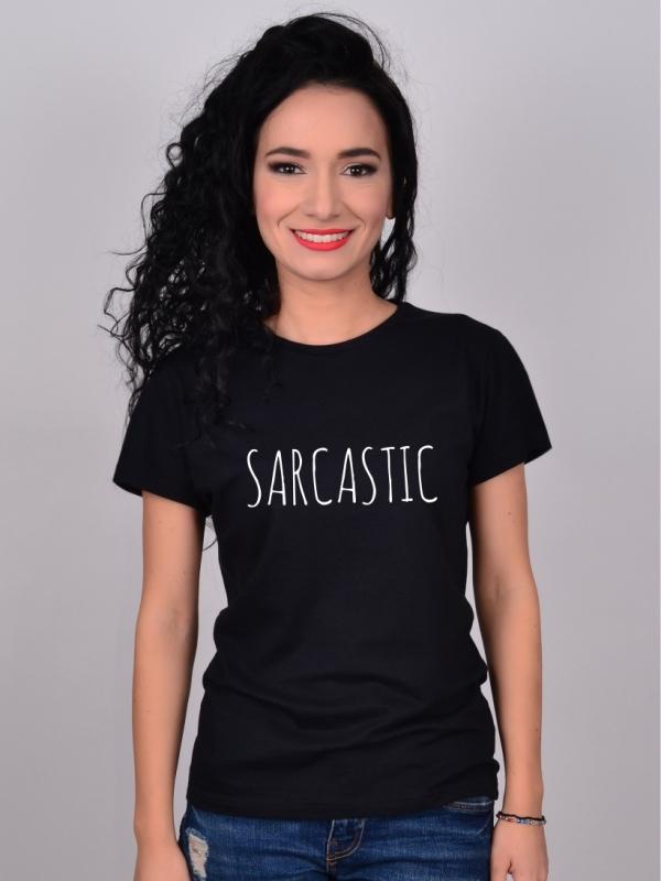 Tricou Negru Sarcastic