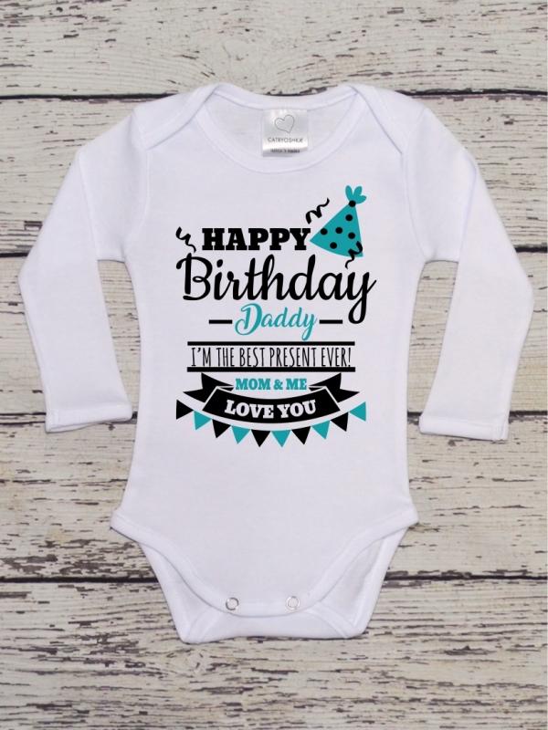 Body Mesaj Happy Birthday, Daddy! Bleu