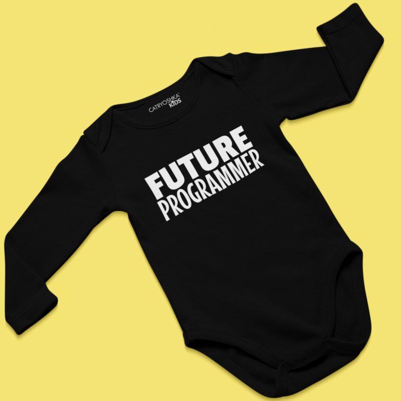 Body Negru cu Mesaj Future Programmer