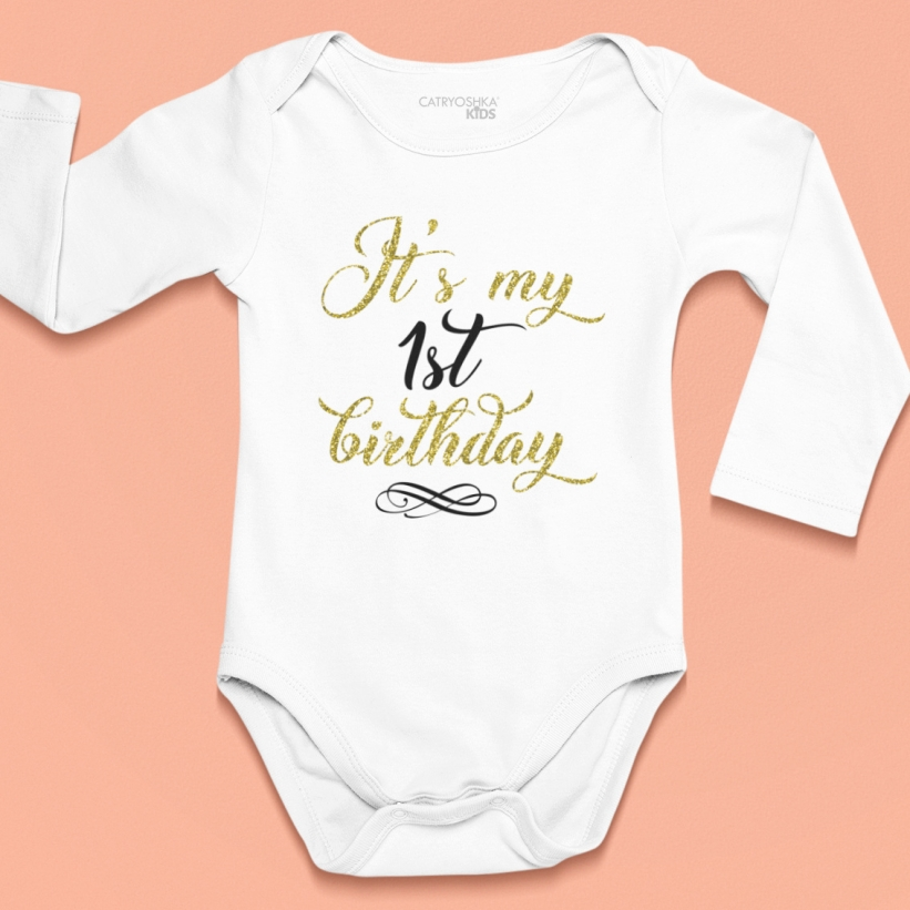 Body Mesaj It's My 1st Birthday