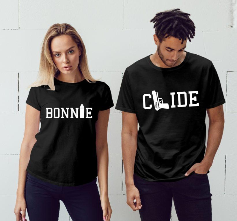 Tricouri Cuplu Bonnie & Clyde