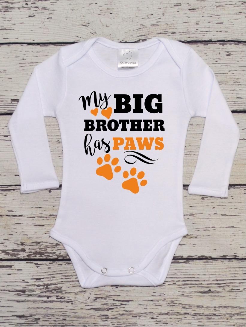 Body Bebelusi My Big Brother Has Paws