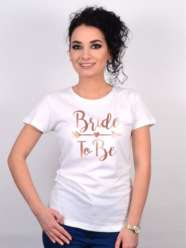 Tricou Burlacite Bride To Be Rose Gold