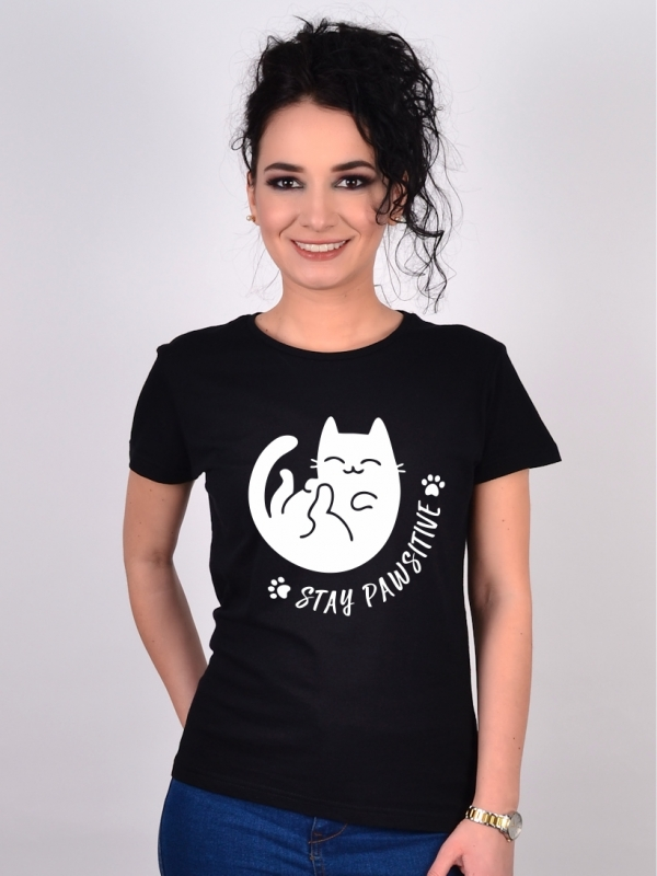 Tricou cu Pisici Stay PAWsitive