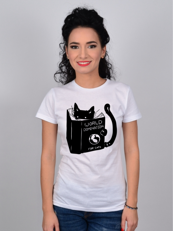 Tricou cu Pisici World Domination For Cats