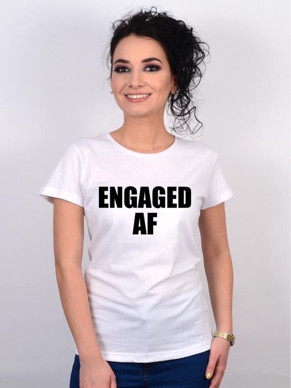 Tricou Petrecerea Burlacitelor Engaged AF