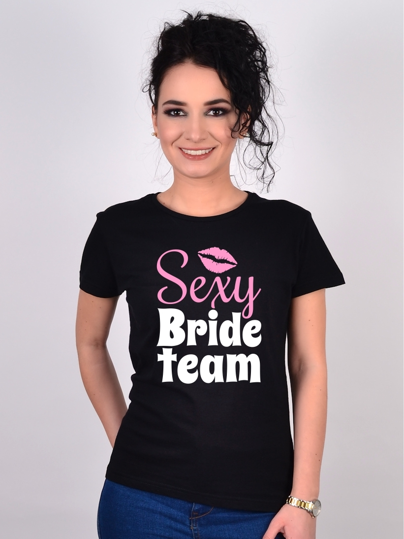Tricou Petrecerea Burlacitelor Sexy Bride Team