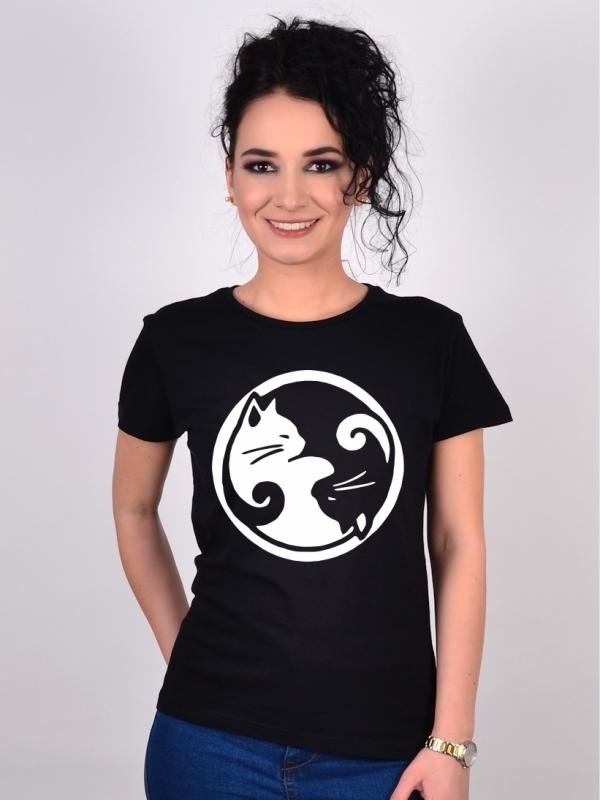 Tricou cu Pisici Yin&Yang