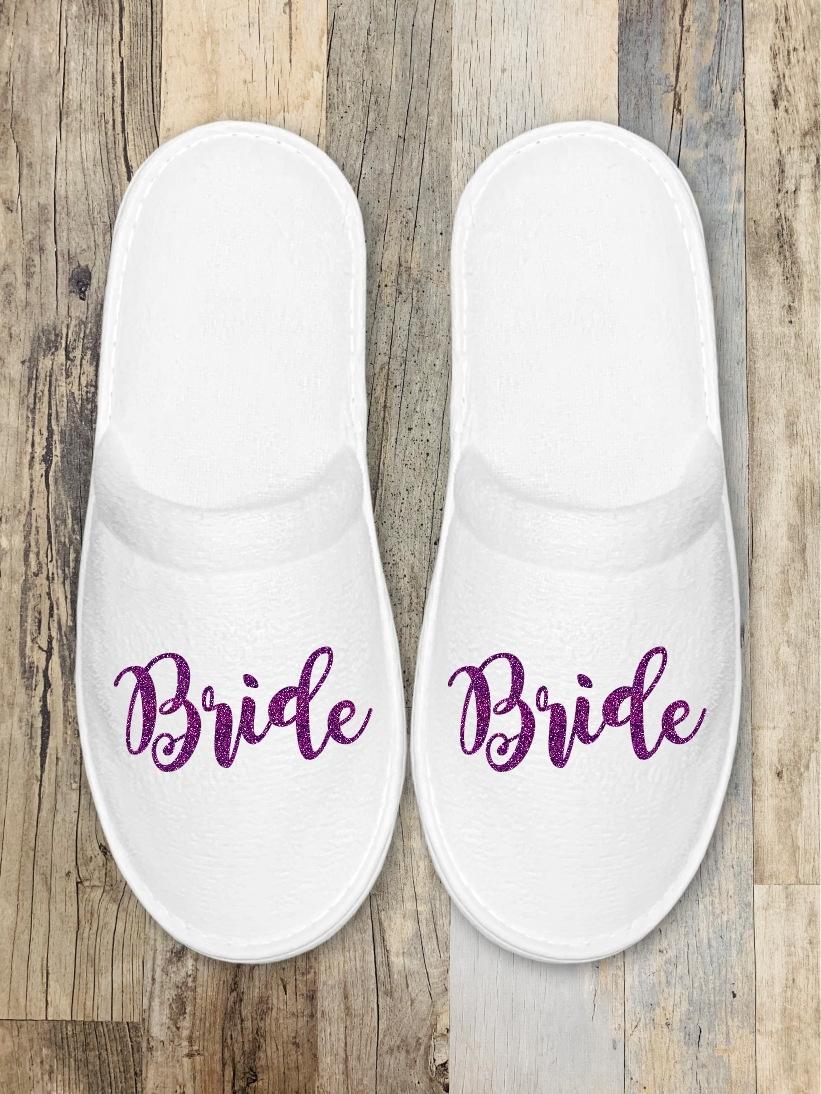 Papuci Mireasa Bride Glitter Mov