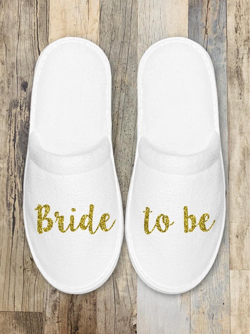 Papuci Mireasa Bride To Be Auriu