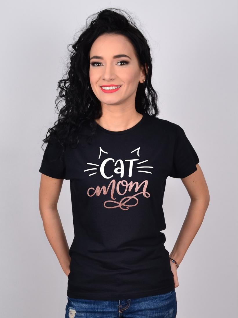 Tricou cu Pisici Cat Mom