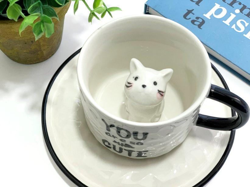Ceasca cu Pisica in Interior 3D - Maia