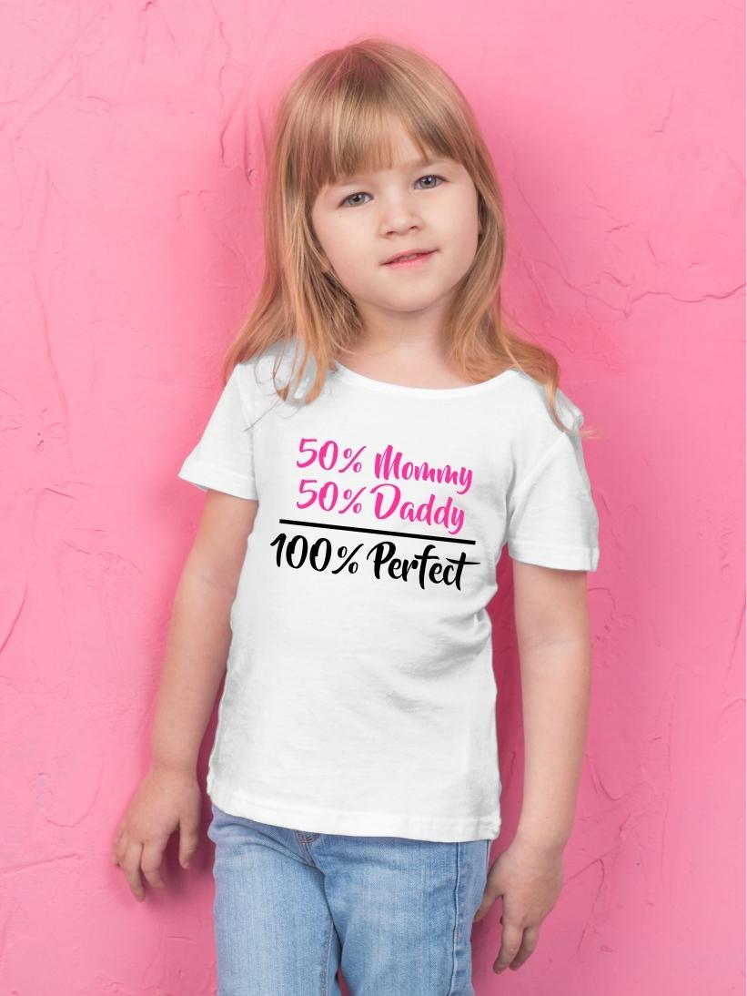 Tricou Copii cu Mesaj 100% Perfect