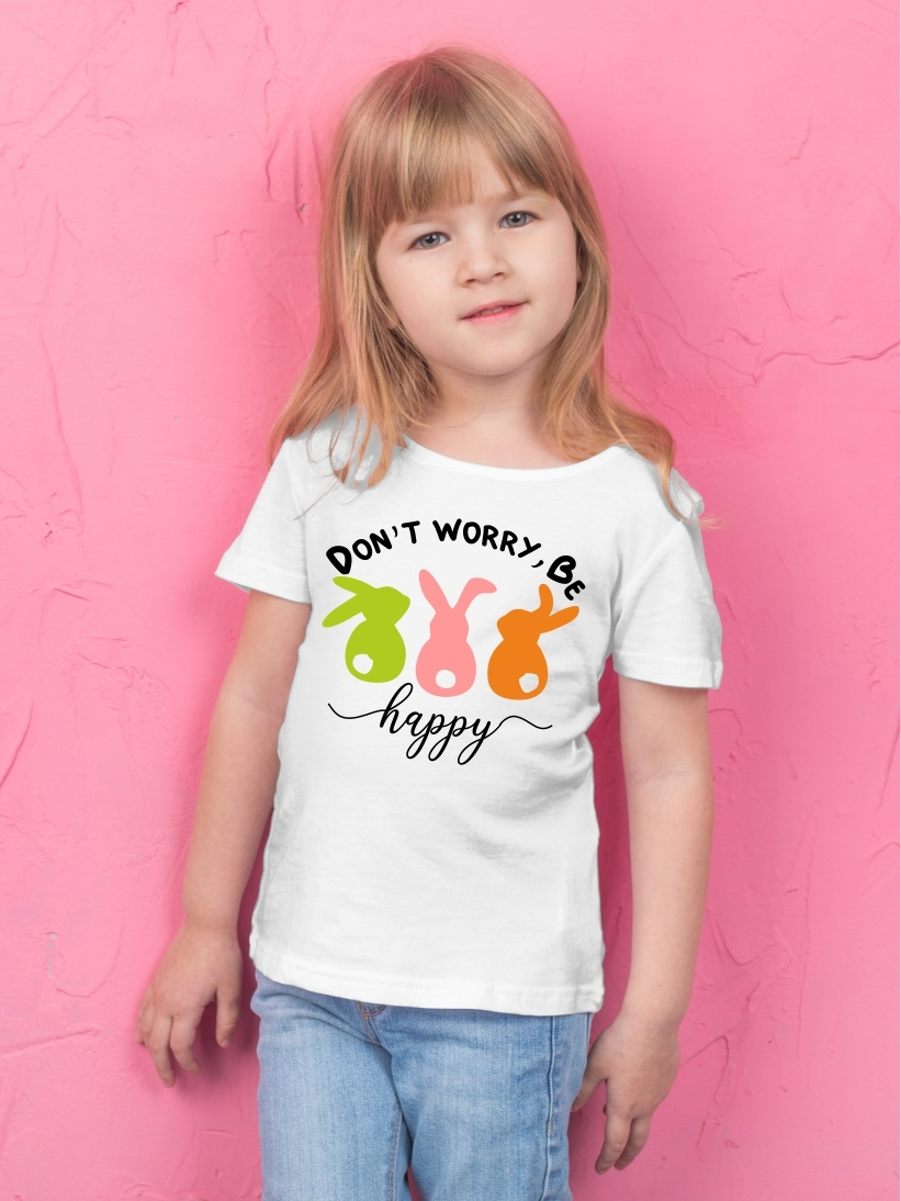 Tricou Copii cu Mesaj Don`t Worry, Be Happy