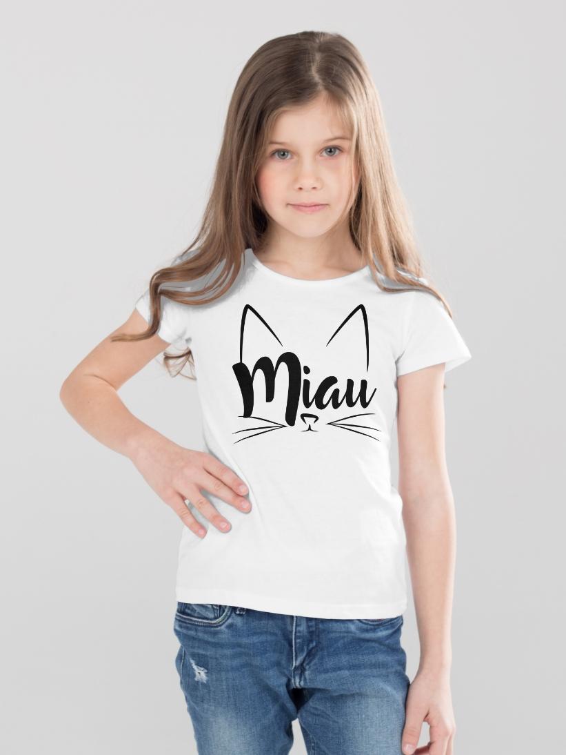 Tricou Copii cu Mesaj Miau