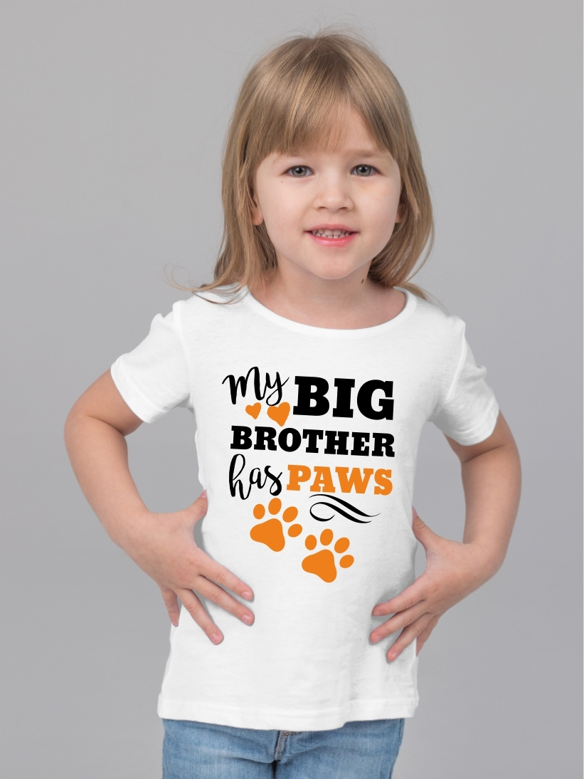Tricou Copii My Big Brother Has Paws