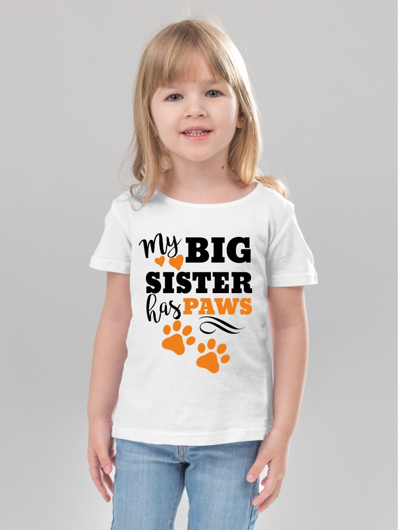 Tricou Copii My Big Sister Has Paws