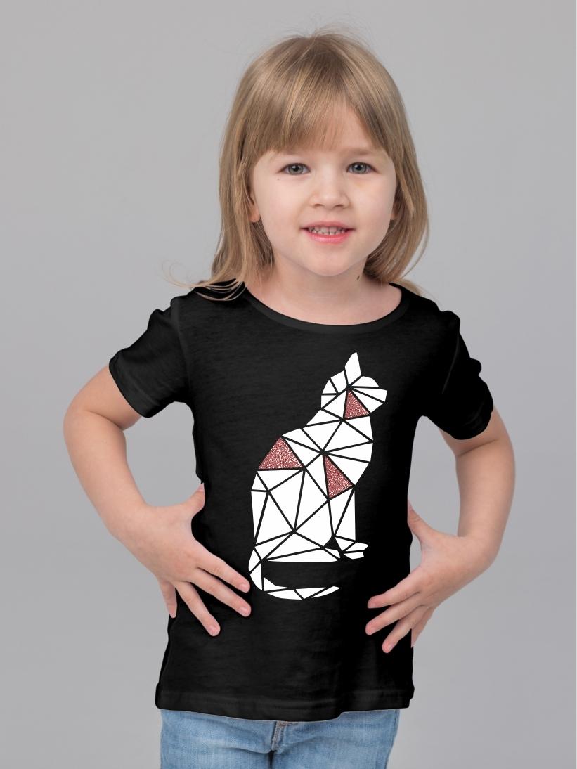 Tricou Copii Pisica Origami