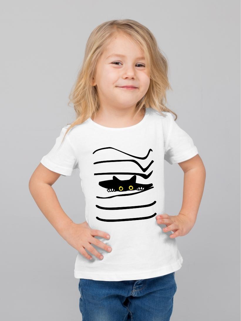 Tricou Copii Pisica Timida