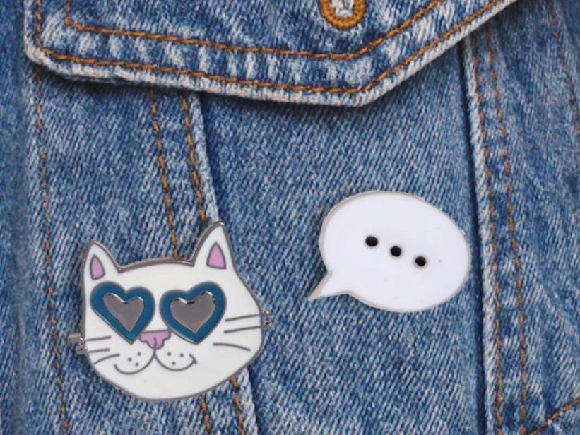 Set 2 Pin-uri Pisica