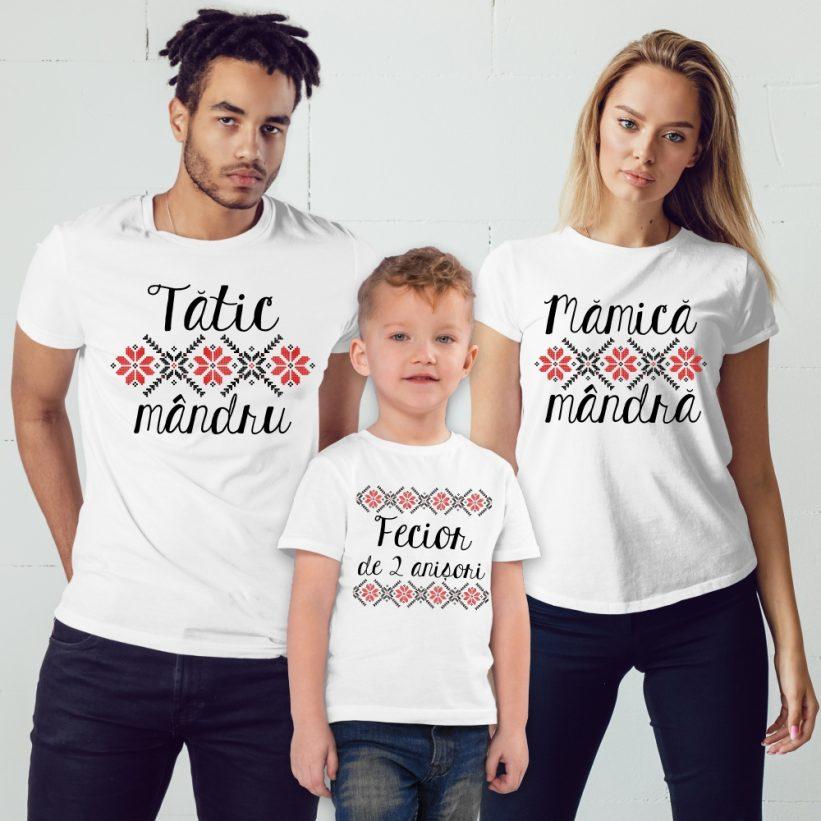 Tricouri Familie Model Traditional Zi de Nastere