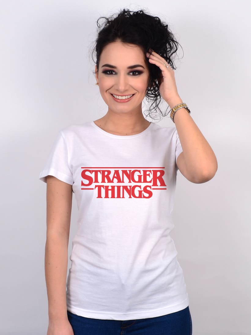 Tricou Stranger Things Alb