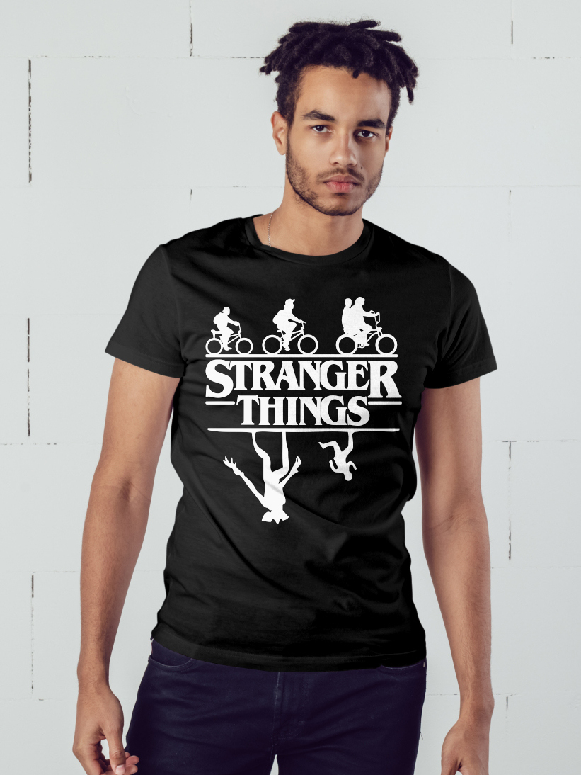Tricou Barbati Stranger Things - Upside Down