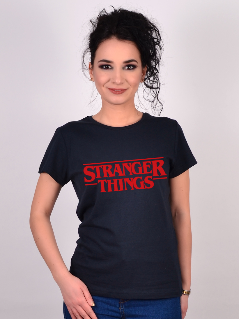 Tricou Stranger Things Negru