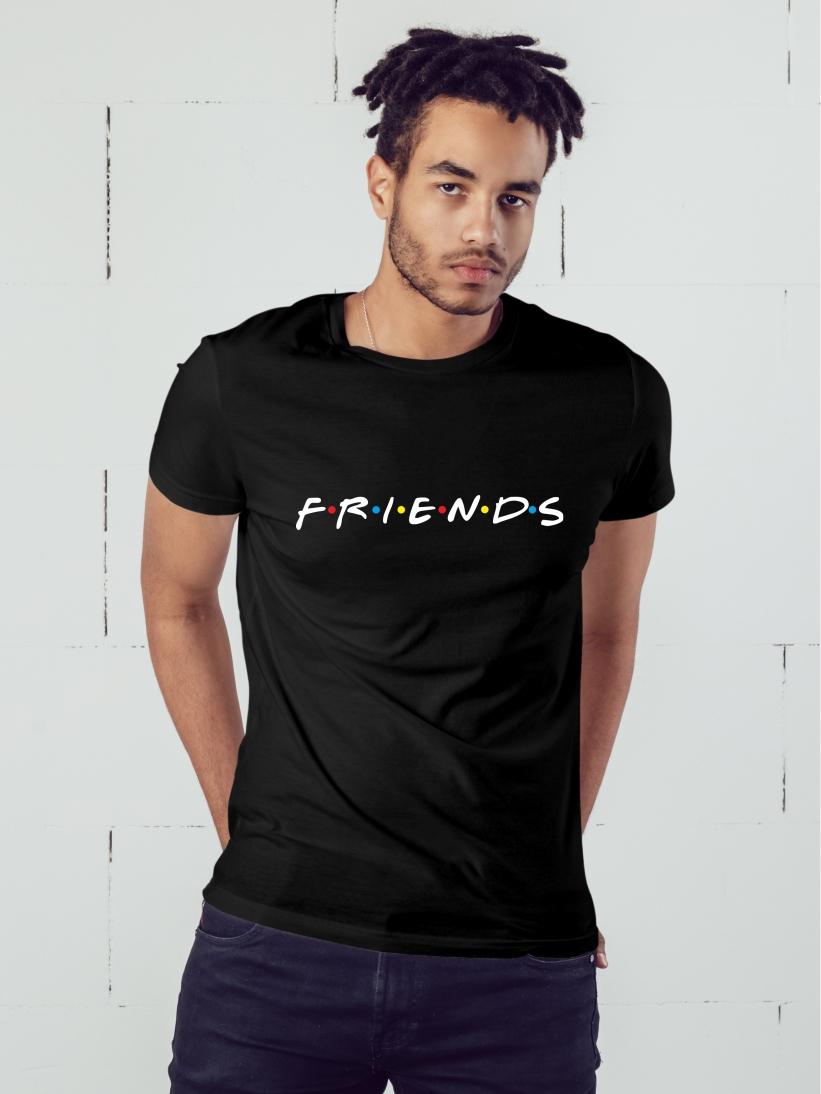 Tricou Barbati Friends Negru