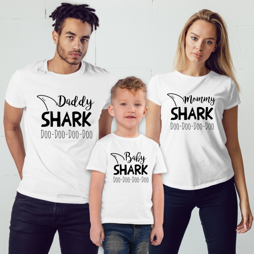 Set Tricouri Familie Baby Shark