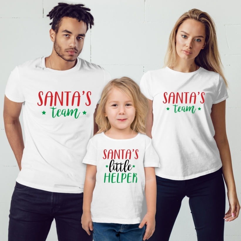 Set Tricouri Familie Santa's Team