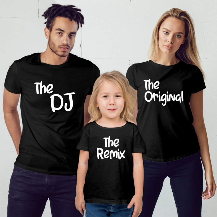 Set Tricouri Familie cu Mesaj The Dj