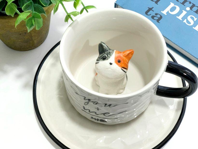 Ceasca cu Pisica in Interior 3D - Cali