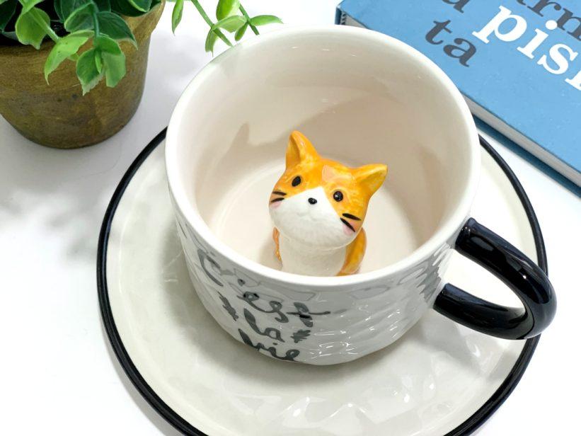 Ceasca cu Pisica in Interior 3D - Tommy