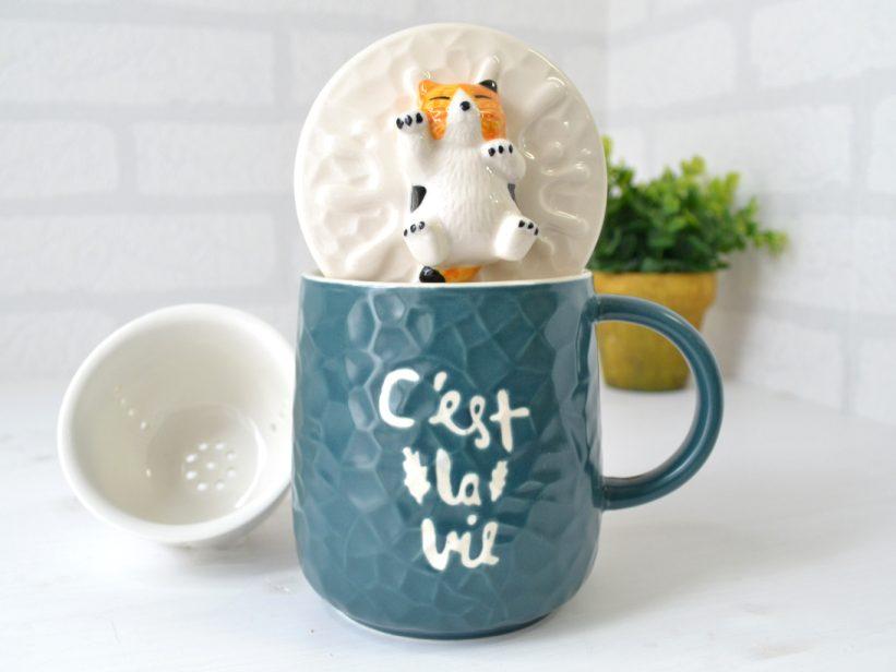 Cana Pisica cu Infuzor Ceai Cali