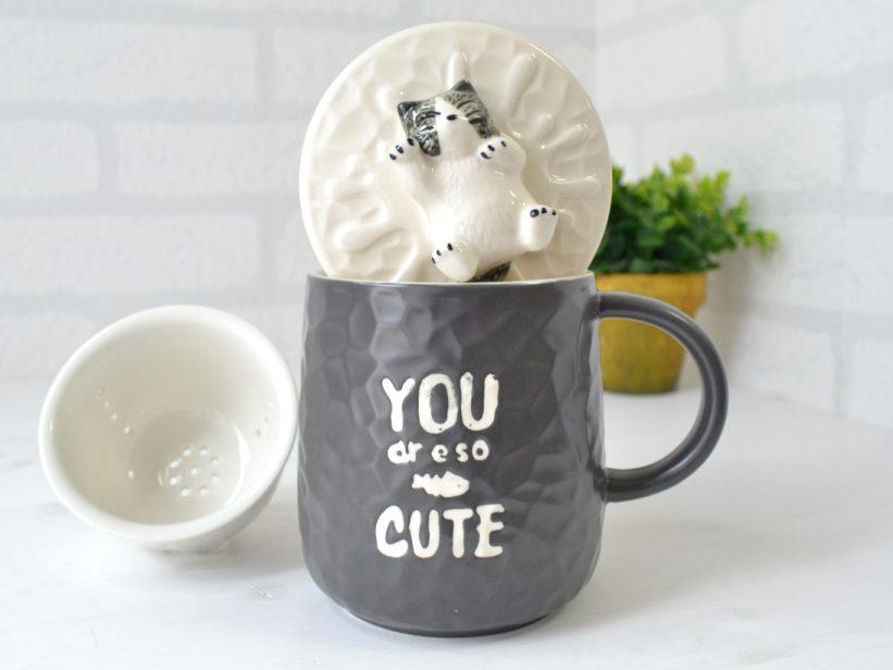 Cana Pisica cu Infuzor Ceai Veronica