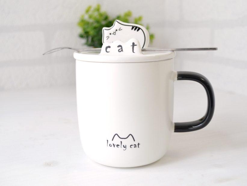 Cana Pisica cu Capac si Lingurita Lola