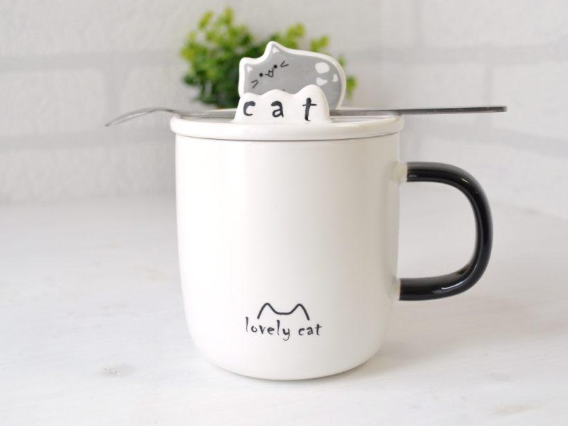Cana Pisica cu Capac si Lingurita Mitza