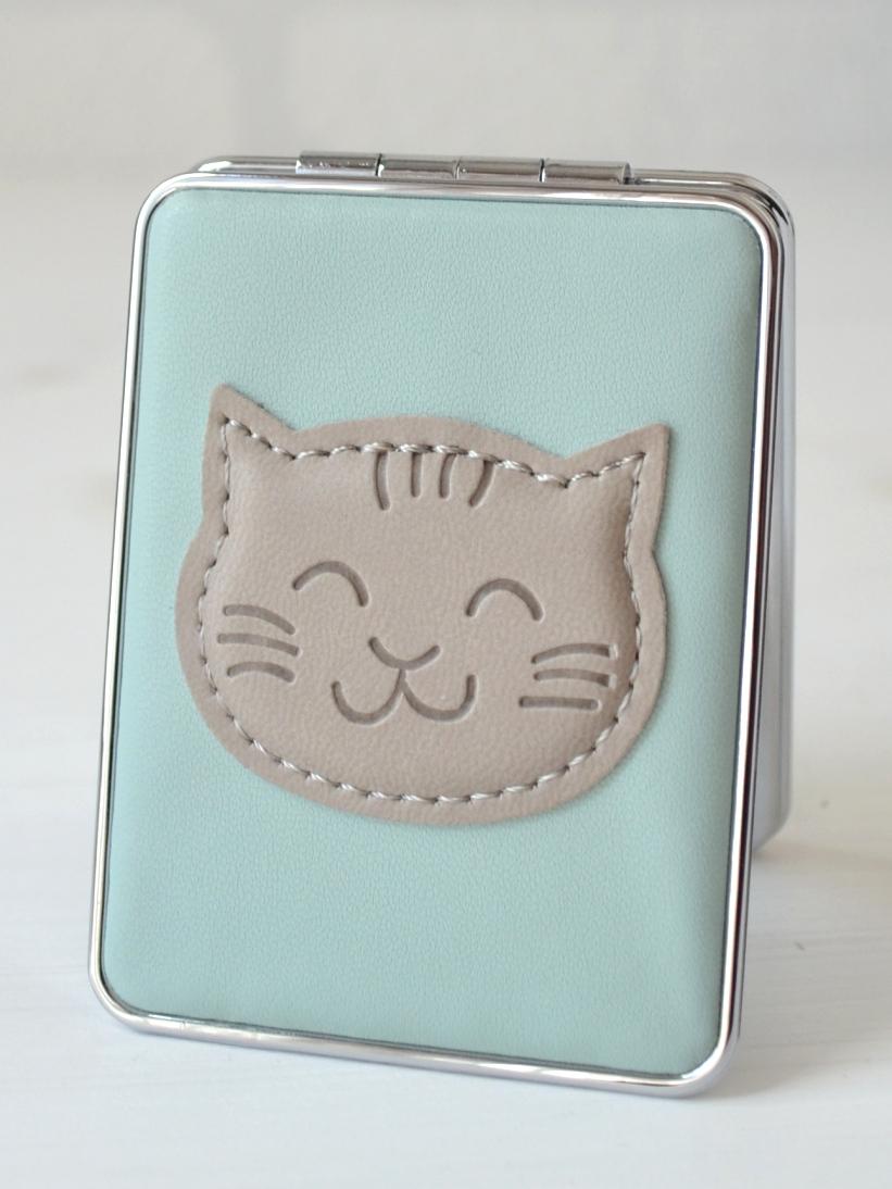 Oglinda Pisica Bleu si Gri