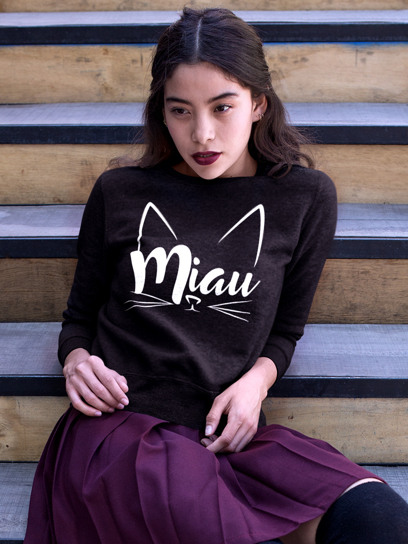Sweatshirt cu Pisici Miau