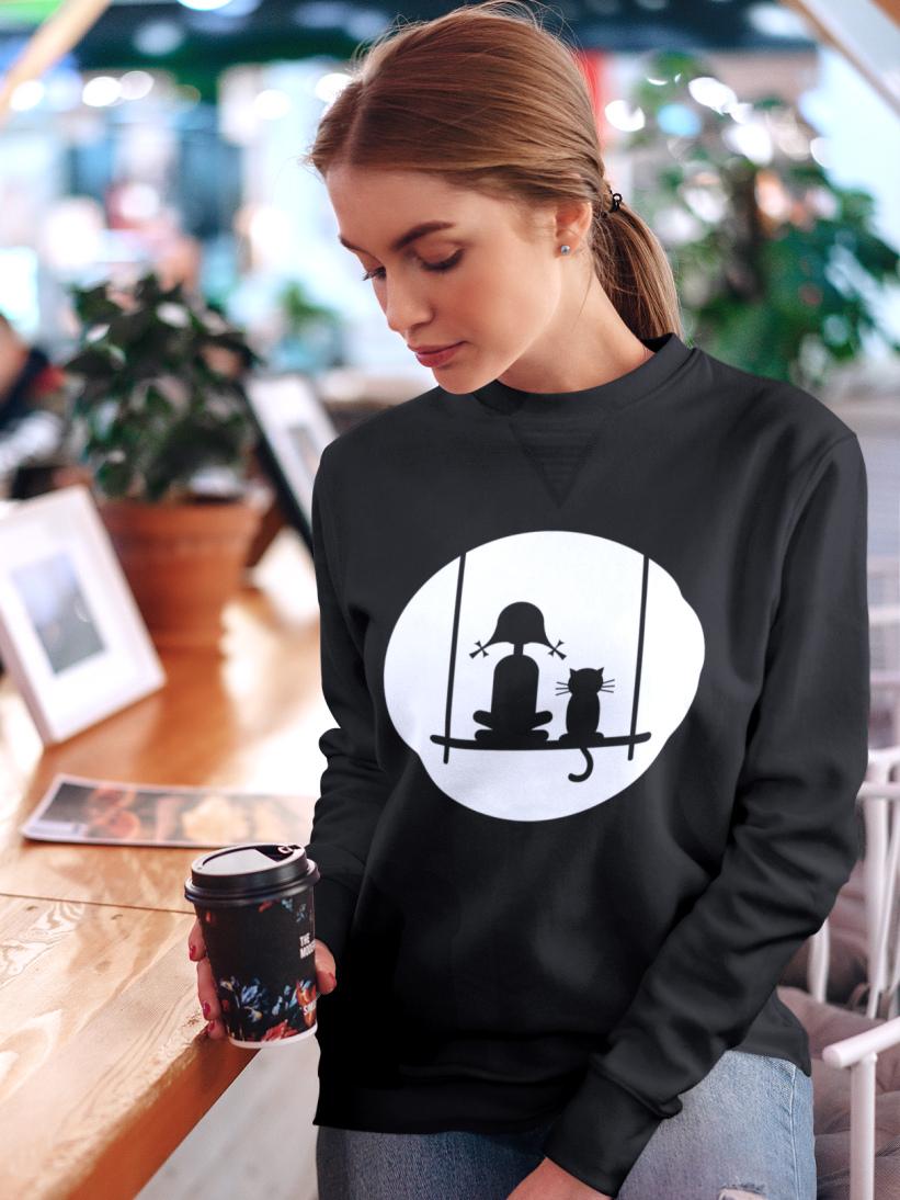Sweatshirt Fetita cu Pisica