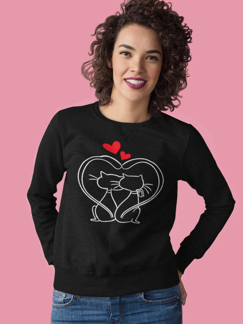 Sweatshirt cu Pisici Indragostite