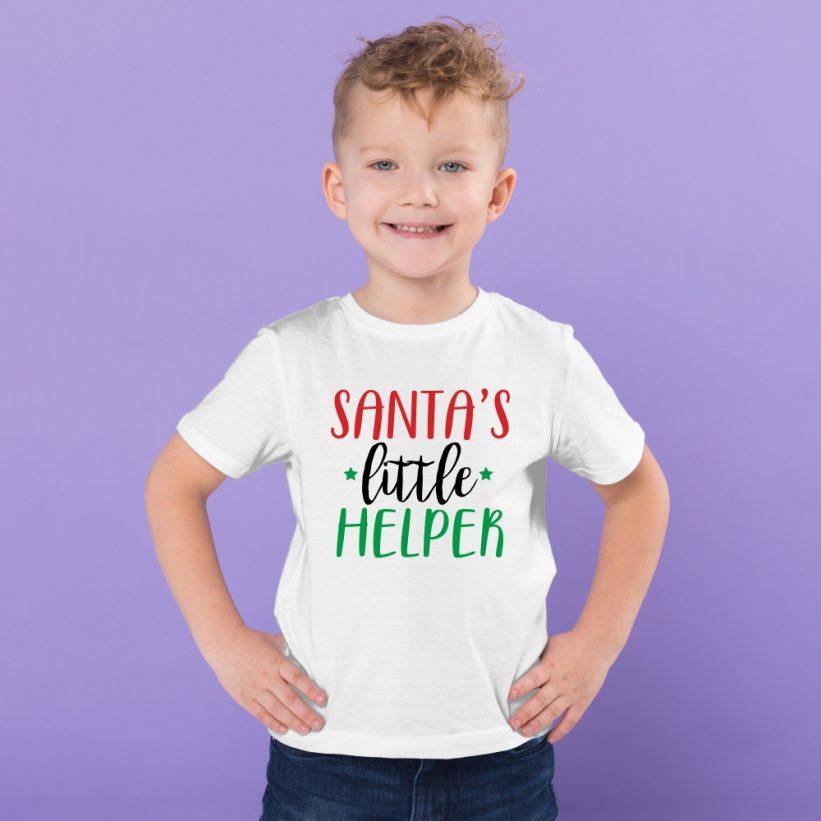Tricou Copii Cu Mesaj Santa's Little Helper