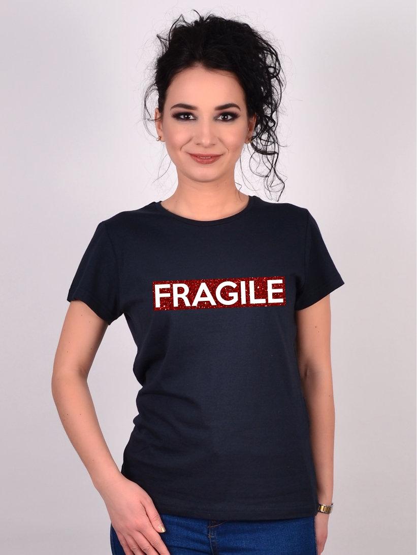 Tricou Negru Fragile Sale
