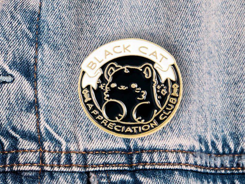 Pin Black Cat Appreciation Club