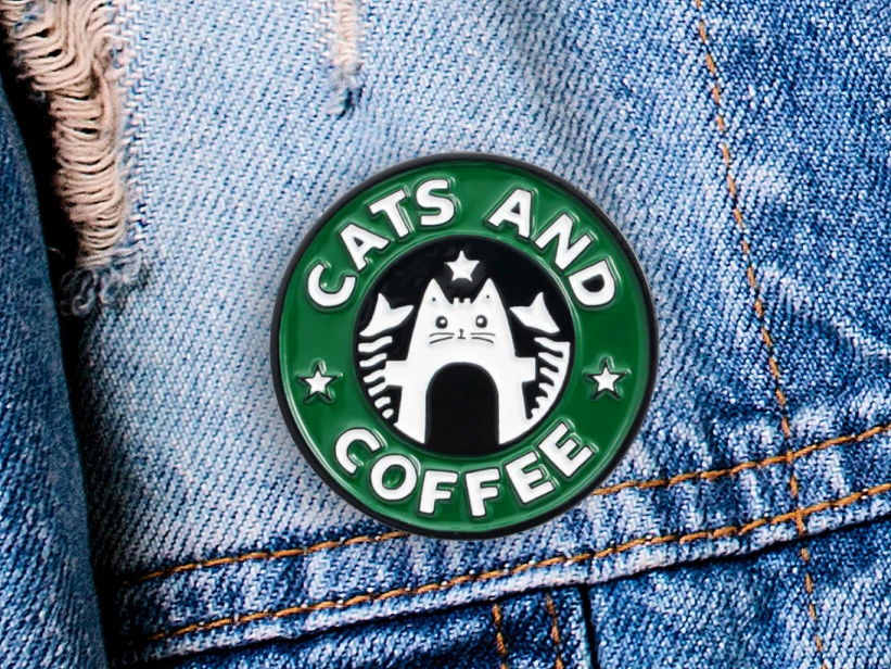 Pin Cats and Coffee